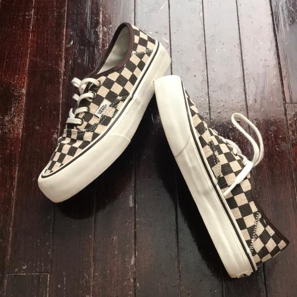 Vans Shoes - Rare Vans Authentic Distressed Check